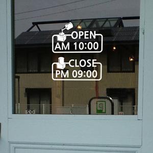 그래픽스티커 ij068-네일숍 오픈&클로즈