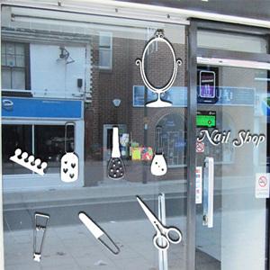 그래픽스티커 is038-Nail Shop /포인트스티커